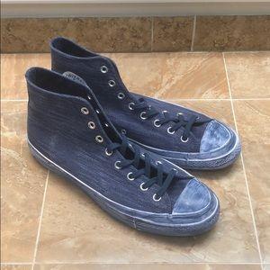 Converse New 11M Blue Denim Hi-Top Sneakers